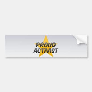 Stolzer Aktivist Auto Sticker