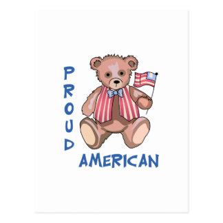 Stolzer Amerikaner Postkarte