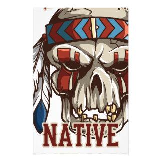 Stolzer amerikanischer Ureinwohner Briefpapier