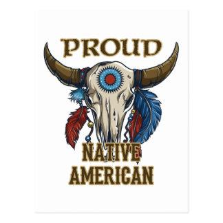 Stolzer amerikanischer Ureinwohner Postkarte