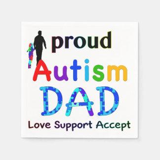 Stolzer Autismus-Vati Papierserviette