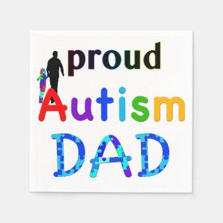Stolzer Autismus-Vati Servietten