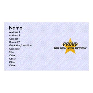 Stolzer Biomed-Forscher Visitenkartenvorlage