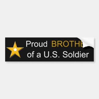 Stolzer Bruder einer US-Soldat-Militär-Familie Autoaufkleber