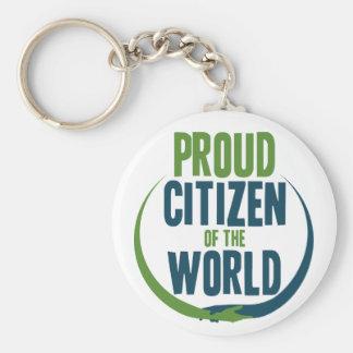 Stolzer Bürger der Welt Schlüsselanhänger