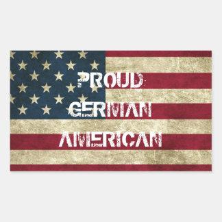 Stolzer deutscher amerikanischer Aufkleber