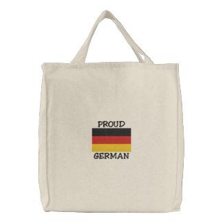 Stolzer Deutscher gestickte Tasche