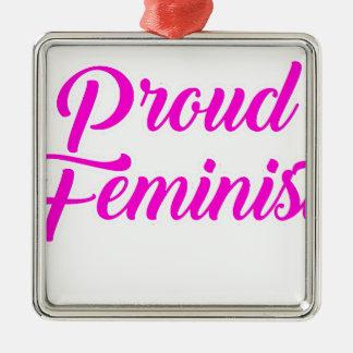 Stolzer Feminist Silbernes Ornament
