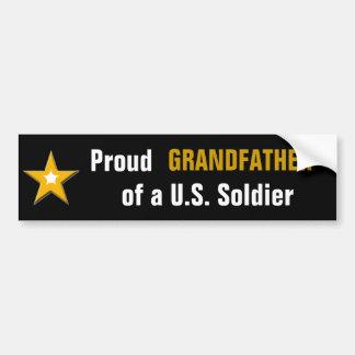 Stolzer Großvater einer US-Soldat-Militär-Familie Autoaufkleber