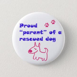 stolzer Hund Runder Button 5,7 Cm