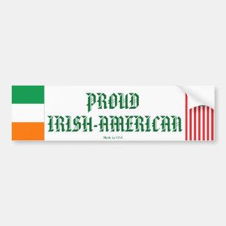 Stolzer Irisch-Amerikanischer Autoaufkleber