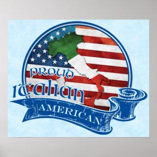 Stolzer italienischer amerikanischer Plakat-Druck Poster