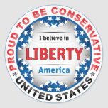 Stolzer Konservativer Runde Sticker