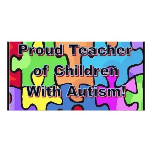 Stolzer Lehrer der Kinder mit Autismus! Bilder Karten