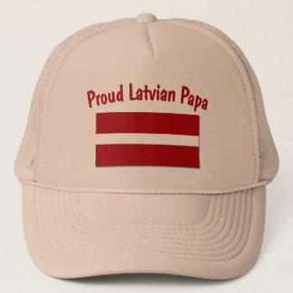 Stolzer lettischer Papa Truckerkappe