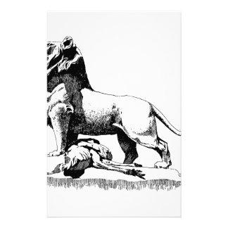 Stolzer Löwe Briefpapier
