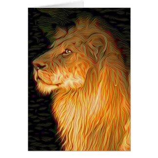 Stolzer Löwe Karte