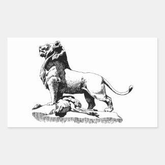 Stolzer Löwe Rechteckiger Aufkleber