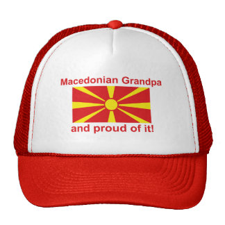 Stolzer mazedonischer Großvater Baseballkappen