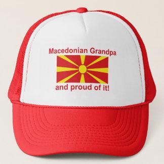 Stolzer mazedonischer Großvater Truckerkappe