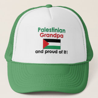 Stolzer palästinensischer Großvater Truckerkappe