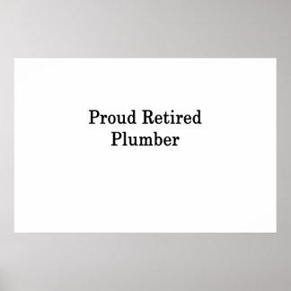 Stolzer pensionierter Klempner Poster