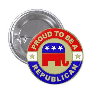 Stolzer republikanischer Knopf Runder Button 2,5 Cm