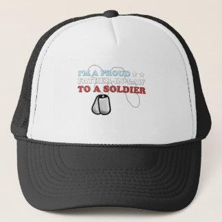 Stolzer Schwiegervater zu einem Soldaten Truckerkappe