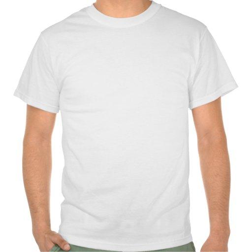 Stolzer Spiegel-Inhaber - beunruhigtes Blau T Shirts