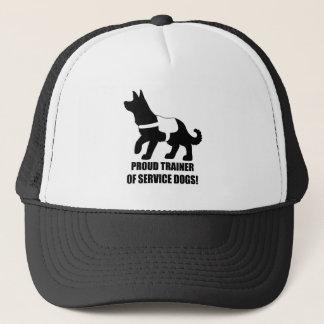 Stolzer Trainer der Service-Hunde Truckerkappe