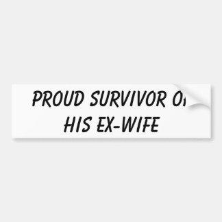 Stolzer Überlebender seines Ex-Ehefrau Autoaufkleber