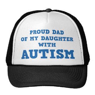 Stolzer Vati meiner Tochter mit Autismus Retrokultmützen