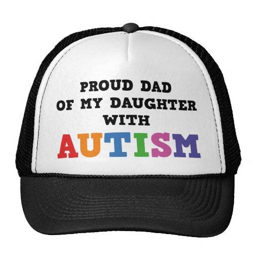 Stolzer Vati meiner Tochter mit Autismus Retromütze
