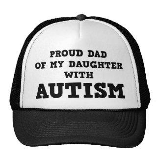 Stolzer Vati meiner Tochter mit Autismus Retromützen