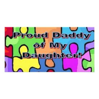 Stolzer Vati meiner Tochter! Photokartenvorlagen