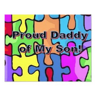 Stolzer Vati meines Sohns! Ankündigungskarte