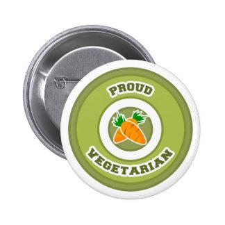 Stolzer Vegetarier Runder Button 5,7 Cm