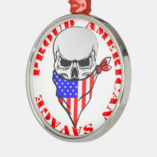Stolzes amerikanisches wildes silbernes ornament