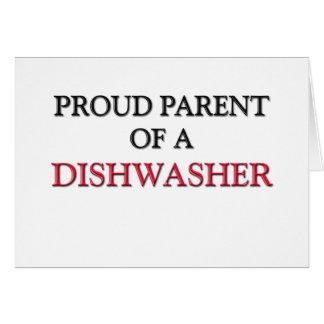 Stolzes Elternteil einer SPÜLMASCHINE Grußkarte