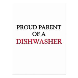 Stolzes Elternteil einer SPÜLMASCHINE Postkarte