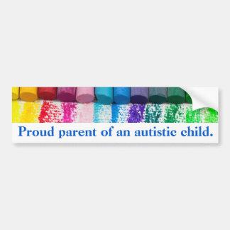 Stolzes Elternteil eines autistischen Autoaufkleber