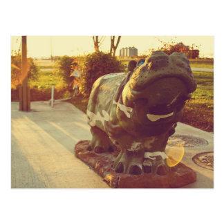Stolzes Flusspferd! Postkarte
