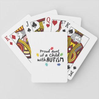 Stolzes Geschenk Tanten-Autism Awareness Puzzle Spielkarten