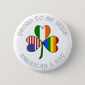 Stolzes homosexuelles irisches amerikanisches Grau Runder Button 5,1 Cm