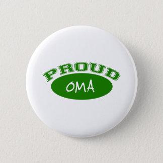 Stolzes Oma (Grün) Runder Button 5,7 Cm