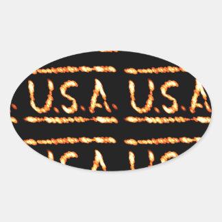 Stolzes USA-Gold: Gefühl-überzeugte Ovaler Aufkleber