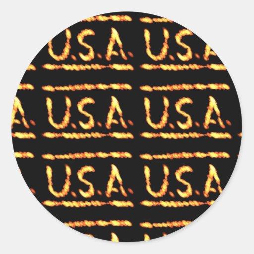 Stolzes USA-Gold: Gefühl-überzeugte Runder Aufkleber