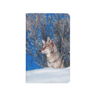 Stolzes Wolf-Winter-Schneesturm-Natur-Tier-Foto Taschennotizbuch