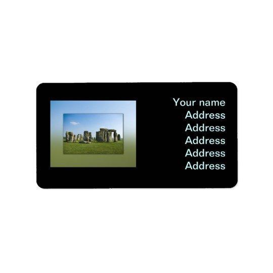 Stonehenge Adressaufkleber