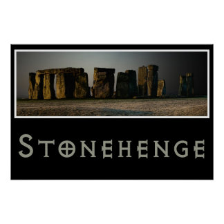 Stonehenge an der Dämmerung Posterdrucke